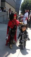 Little Vincent Valentine and Baby Kirito @ AX14 by drake12483
