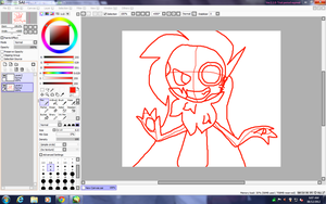 WORKING ON ROBOT DRAWING OF ONE OF MY O.C.'S! by 0froggydog0