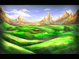 Mountain Fjords Speedpaint by JRTribe