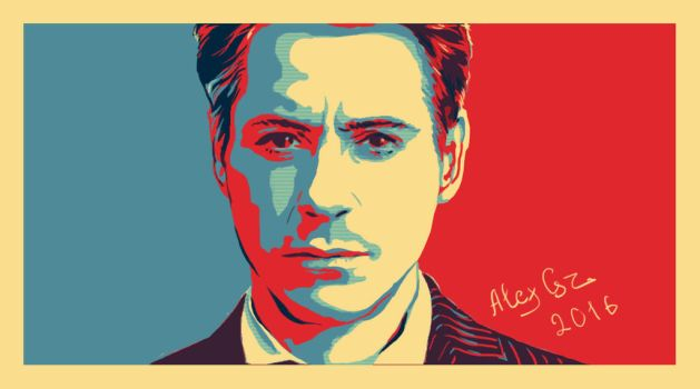 Robert-downey-jr by AtanvarneArt
