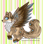 OPEN | Winged Canine Auction by gold-adopts