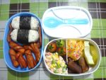 onigiri pineapple date bento by plainordinary1