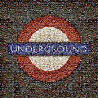 London Tube photomosaic by brokoloid