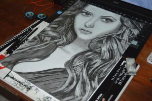 Nina Dobrev Drawing!!! by skrillex8