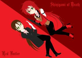 Shinigami of DEATH vs Red Butler by nischuny