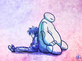 Big Hero 6 Doodle: Napping by Ayemae