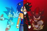 Sonic vs Shadow by trungtranhaitrung