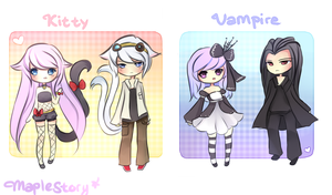 MS-Kitty and Vampires by mochatchi