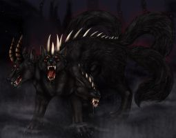 Demon Cerberus by arania