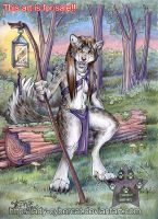 Forest Guardian Werewolf by lady-cybercat