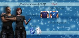 Mass Effect 3 - Modded Casual Outfit N7 Shirt V1.5 by KurauAmami