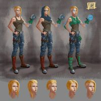 mechanic girl concept by Sheym
