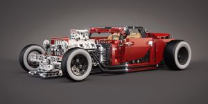 LEGO 8070 (B model) - Hot Rod - Tuning by meszimate