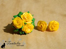 Set Yellow Roses by Tantalia