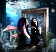 Beyond on the mirror by Marjie79