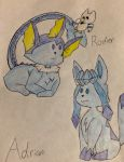 Chibi Rodier and Adrian (commission) by Starry-the-Jolteon