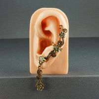 Vintage Brass Flower Fairy Ear Cuff by sylva