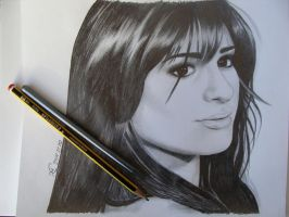 Lea Michele portrait by SamanthaBossy