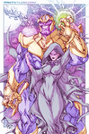Thanos and Mistress Death - colored by alch3mist-design