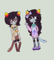 Hipster Nepeta and Pastel goth Meulin by SGTCTOINFINITY