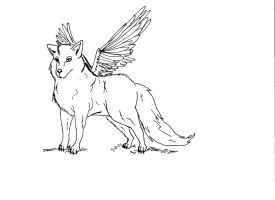 Winged wolf realistic? by TheFrymon