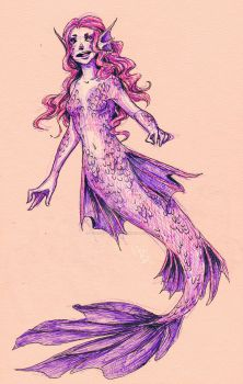 Pink Mermaid by IF-LovE-WaS-BluE