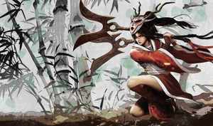 League of Legends Akali Wallpaper by dreaming-myth