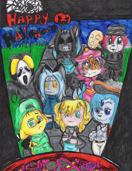 Trick or Treaters by mewmewpower