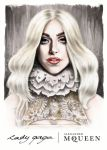 Lady Gaga | Alexander McQueen Fall/Winter 2013 by christophmichaud