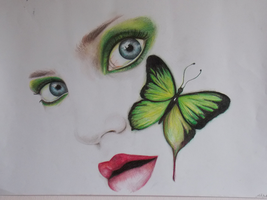 green butterfly by AmyPond11