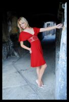 Samantha - red dress 1 by wildplaces