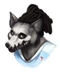 ChainsCoyote painted headshot commission by Rhandi-Mask