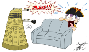 Norrington vs. Daleks by ImagenAshyun