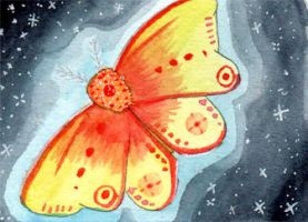ACEO #091 - Shiny Moth by Elythe