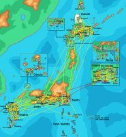 Pokemon Airlines Route Map 2013 by MaxCheng95