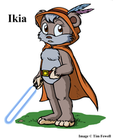 Ikia the Jedi Ewok by Timothius