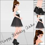.: Birthday Outfit Akiko ! :. by Kara-chann