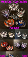 TFP Decepticon Charms for Sale! by Karra-shi