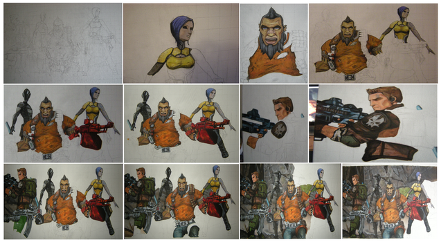 Borderlands 2 piece - WIP by CurlyWurly808