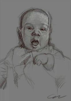 Portrait of baby by Arrgee