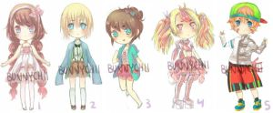 Adopt Batch 1 [Open] now with points! :0 by bunnychii