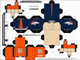 Peyton Manning Broncos Cubee by etchings13
