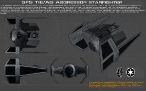 SFS TIE-AG Aggressor starfighter ortho [New] by unusualsuspex