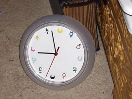 Sailor Moon Clock by snowtigra
