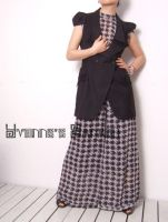 Black White Checked Jumpsuit 1 by yystudio