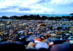 On Pebbles With Dancing Colour by Aquitius