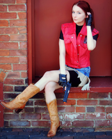 Claire Redfield, Sitting Pretty-RE: DC Cosplay by Hamm-Sammich