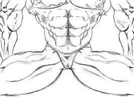 Censored Bulging Female Muscle by TC2
