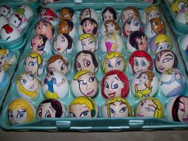 Easter Eggs Disney Princess by Rene-L
