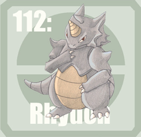 112 Rhydon by Pokedex